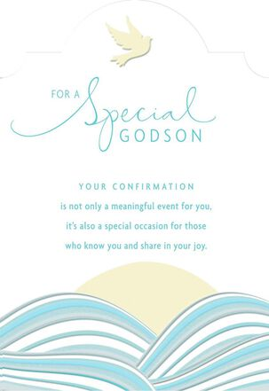 Dove and Sun Confirmation Card for Godson