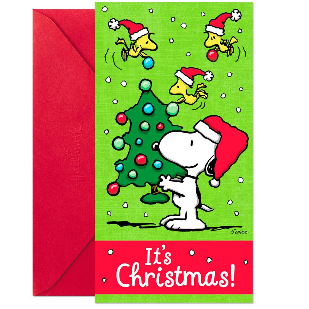 Peanuts® Money Holder Christmas Cards, Pack of 10 - Boxed Cards ...