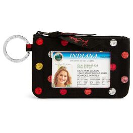 Vera Bradley Zip ID Case in Havana Dots, , large