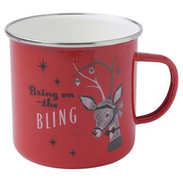 Holiday Vintage-Inspired Reindeer Bling Mug, , large