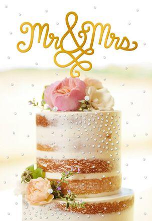Mr. & Mrs. Cake Topper Wedding Card