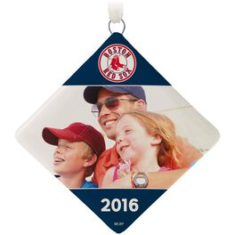 Boston Red Sox™ Ceramic Personalized Ornament, Diamond-Shaped, , large