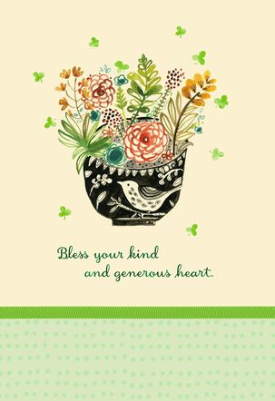 Bless Your Kind Heart Watercolor St. Patrick's Day Card