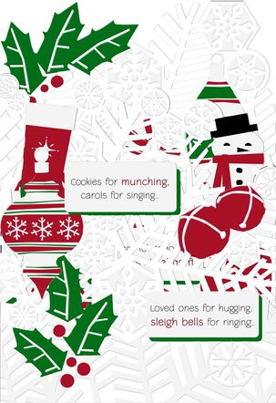 Paper Ornaments Christmas Card
