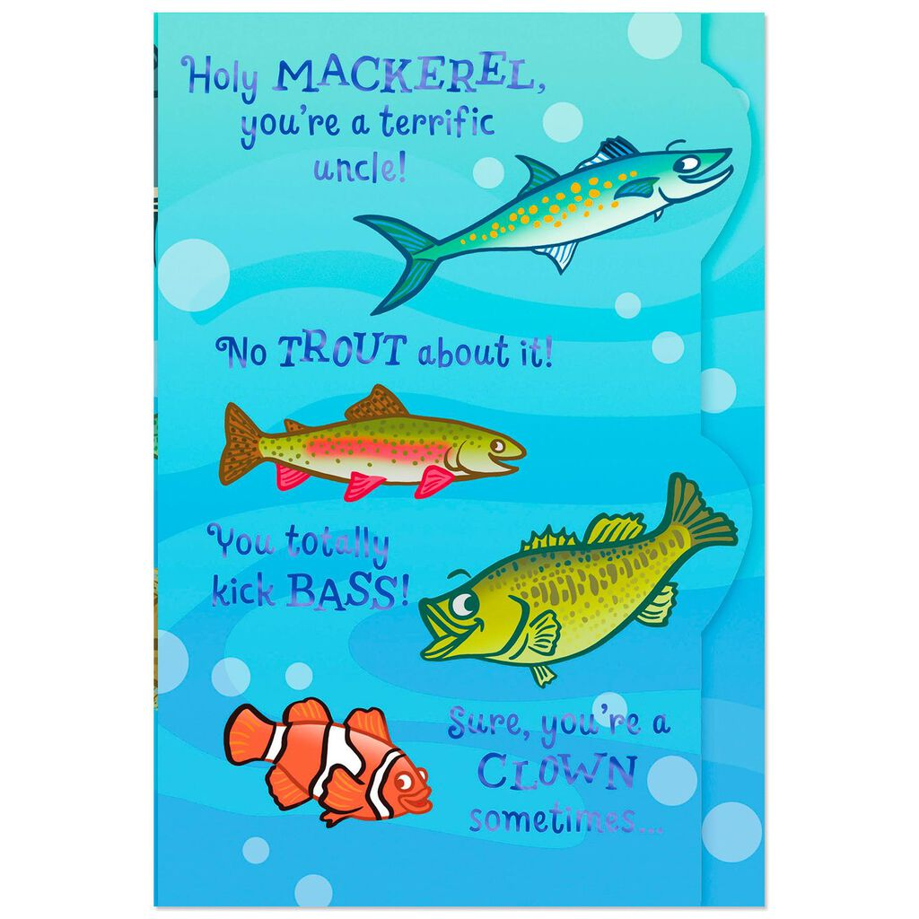 Thats No Fish Story Funny Pop Up Birthday Card For Uncle