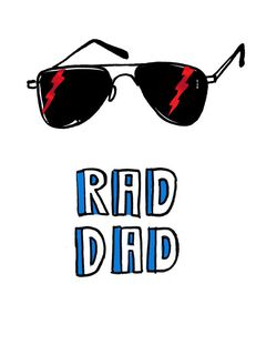 Rad Dad Father's Day Card,