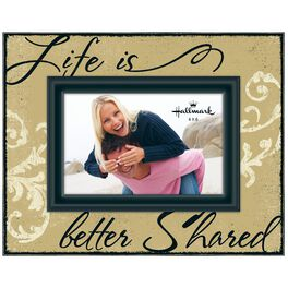 Life Is Better Shared Script Picture Frame, 4x6, , large