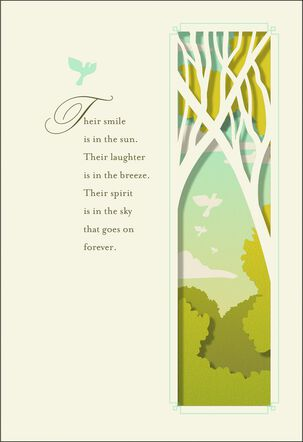A Return to Nature Sympathy Card