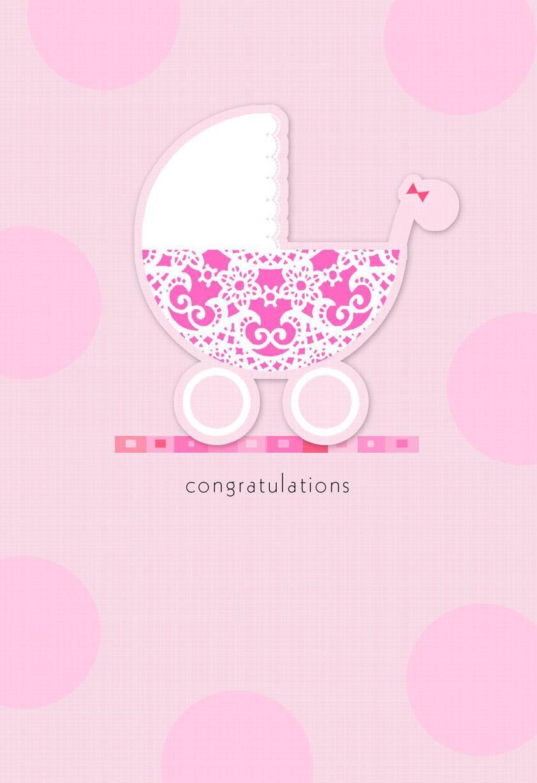 Wonderful World of Love New Baby Girl Card - Greeting ...