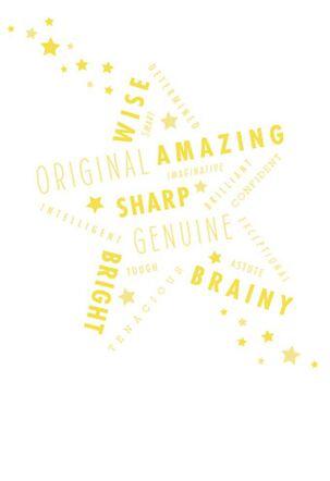 Stellar Words of Praise Graduation Card