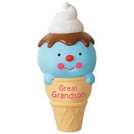 Ice Cream Cone Great Grandson Ornament, , large