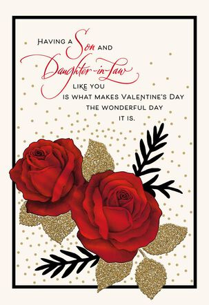 Pride and Gratitude Valentine's Day Card for Son and Daughter-in-Law