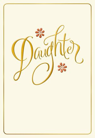 For Daughter Thanksgiving Card