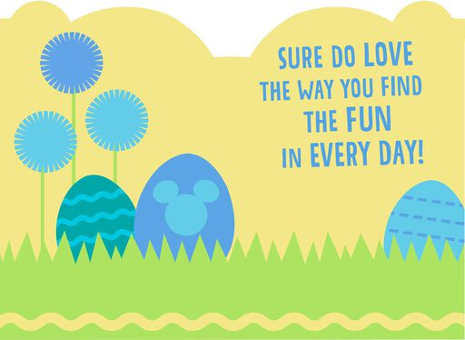 Mickey Mouse Easter Card for Son,