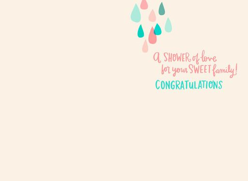 And Baby Makes Three Baby Shower Card,