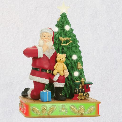 Hallmark Christmas Ornaments.Kringle S Toy Shop Ornament With Light Sound And Motion