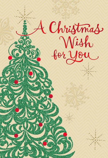 Christmas Tree Wish Christmas Card for Someone Special - Greeting ...