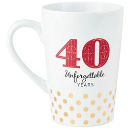40 Unforgettable Years Mug, , large