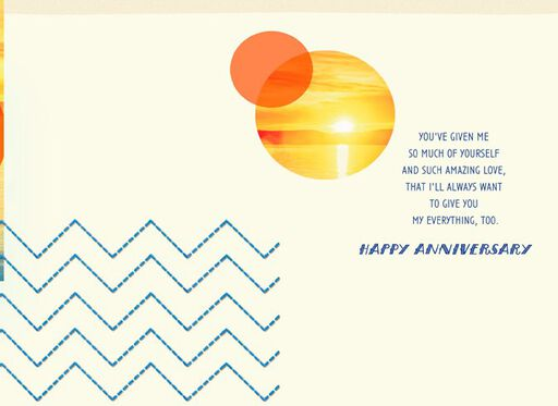 You're My Everything Anniversary Card,