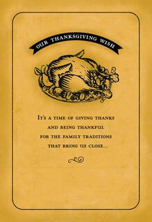 Family Traditions Thanksgiving Card,