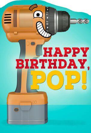 Drill Bit Birthday Card for Dad
