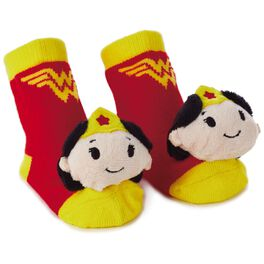 WONDER WOMAN™ itty bittys® Baby Rattle Socks, , large
