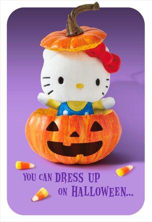 itty bittys® Hello Kitty® Pumpkin Surprise Halloween Card