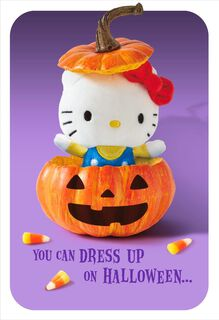 itty bittys® Hello Kitty® Pumpkin Surprise Halloween Card,
