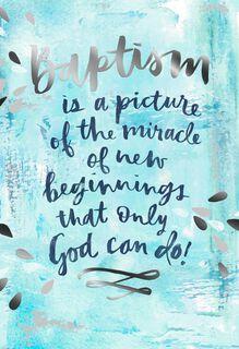 New Beginnings Baptism Card,
