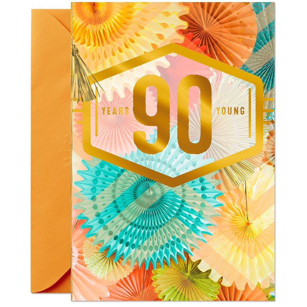 Pretty Pinwheels 90th Birthday Card