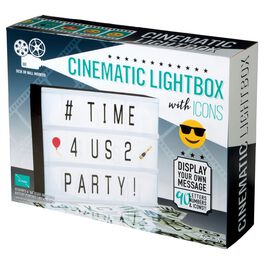 Cinematic Lightbox With Icons LED Sign Display, , large