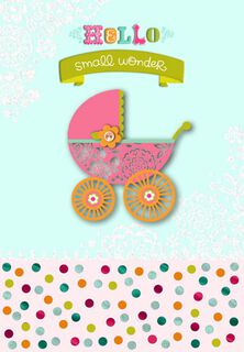 Sweet New Baby Girl Congratulations Card,
