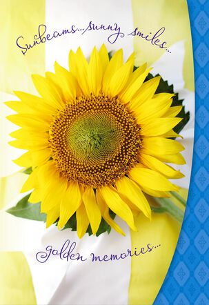 All Things Warm and Wonderful Sunflower Birthday Card