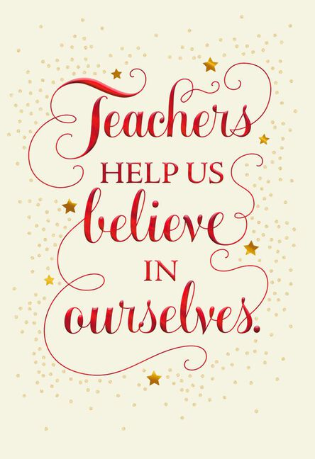 Believe in yourself christmas card for teacher greeting cards believe in yourself christmas card for teacher m4hsunfo