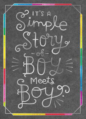 Boy Meets Boy Wedding Card