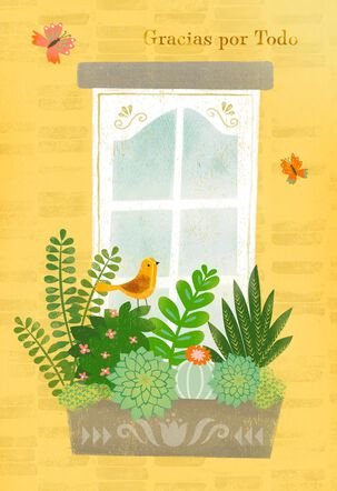 Window Box Spanish-Language Thank You Card
