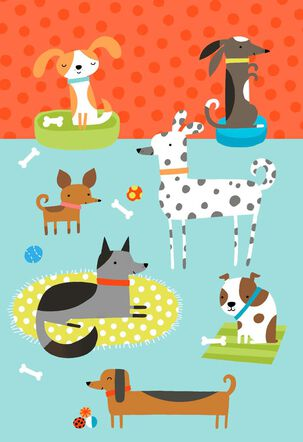 Dog Party Blank Card