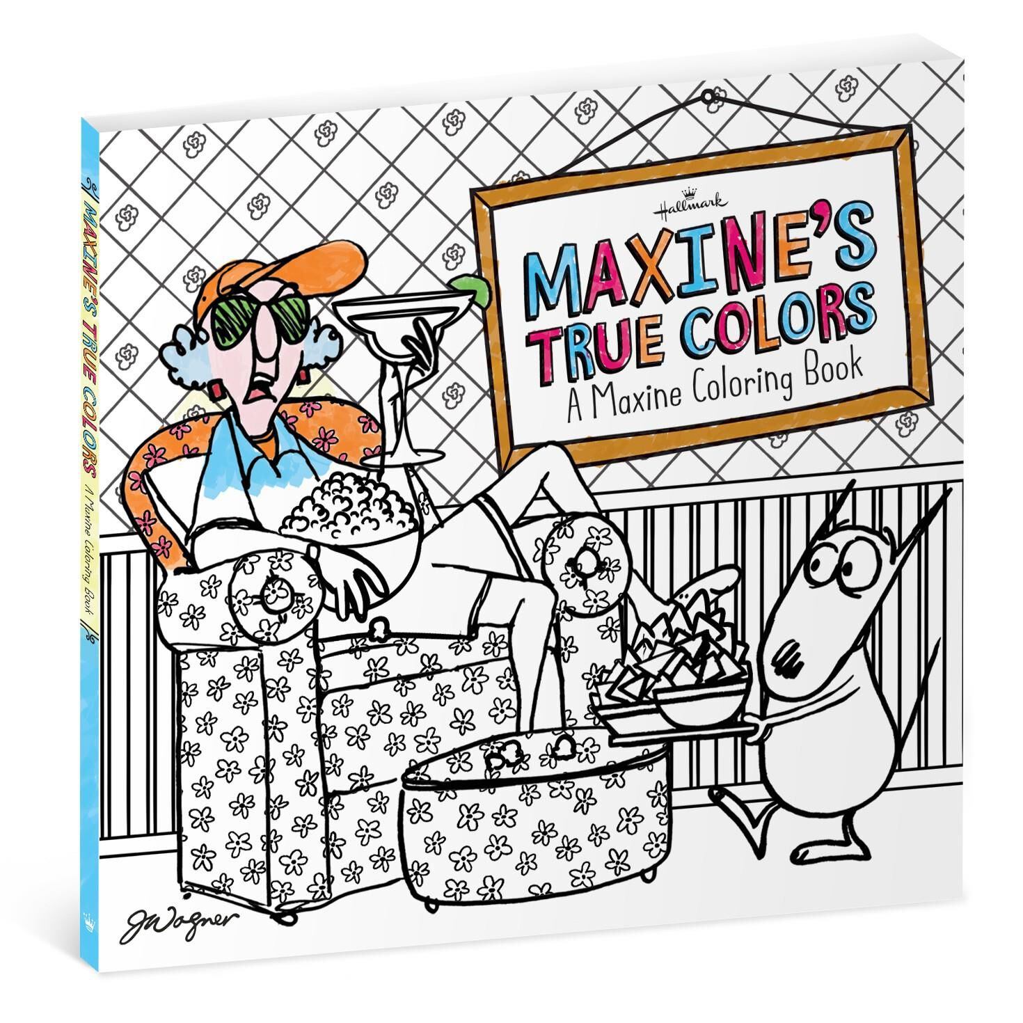 Coloring adults books - Maxine S True Colors Coloring Book For Adults Coloring Books Hallmark