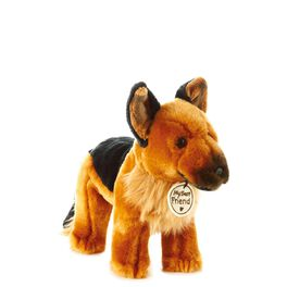 Brown and Black Service Dog Small Stuffed Animal, , large