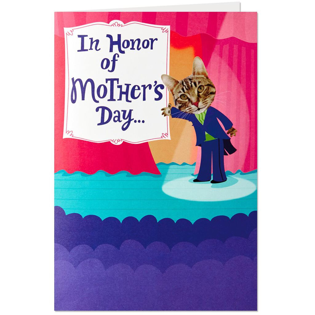 Song And Dance Musical Mothers Day Card With Motion Greeting