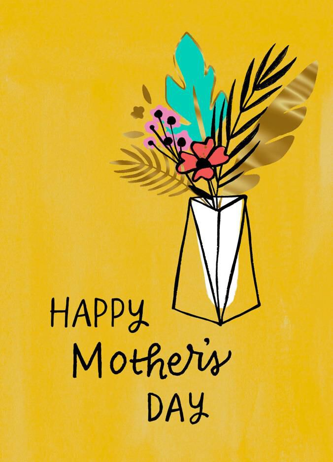 Vase Of Flowers Mothers Day Card Greeting Cards Hallmark