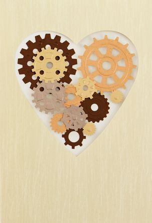 Gear Heart Father's Day Card