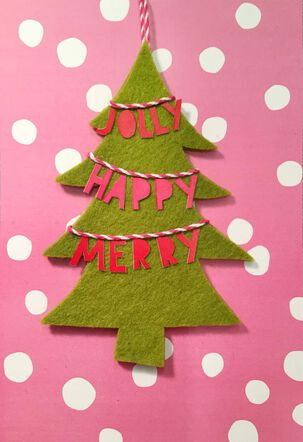 Christmas Tree Banner Ornament and Christmas Card