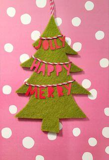Christmas Tree Banner Ornament and Christmas Card,