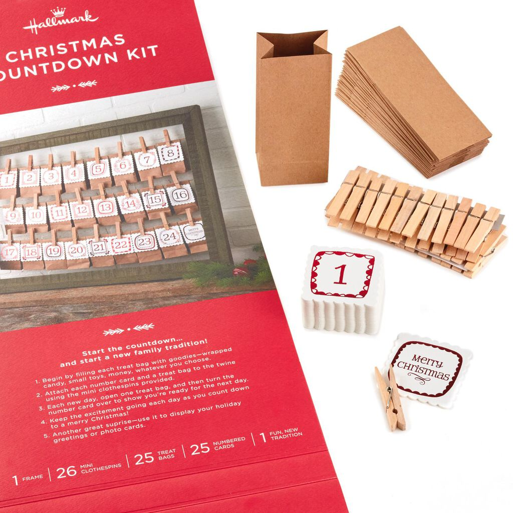 Framed Christmas Countdown Kit And Card Holder