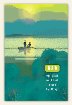 Boat on Water Father's Day Card