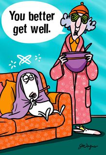 Maxine™ Healing Thoughts Funny Get Well Card,