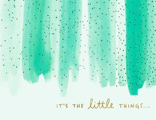 Little Things Thank You Card,