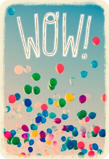 Here's to You Balloons Congratulations Card,