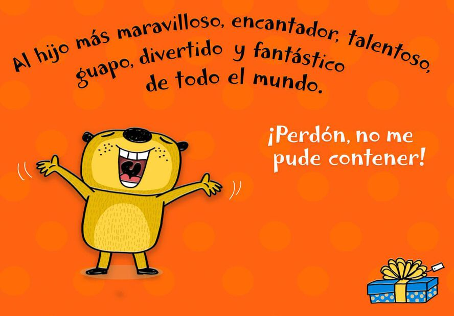 A Simple Wish For My Son Spanish Language Funny Birthday Card